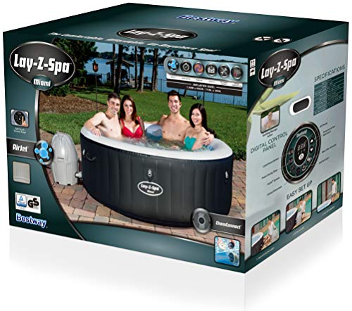 Jacuzzi Inflable Para 2 Personas.Bestway Lay Z Spa Miami Spa Hinchable Para 2 4 Personas Hidrosaunas Baratas
